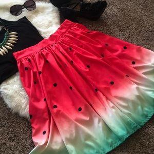 🍉 Beautiful Watermelon 🍉 Skirt, Sz Large